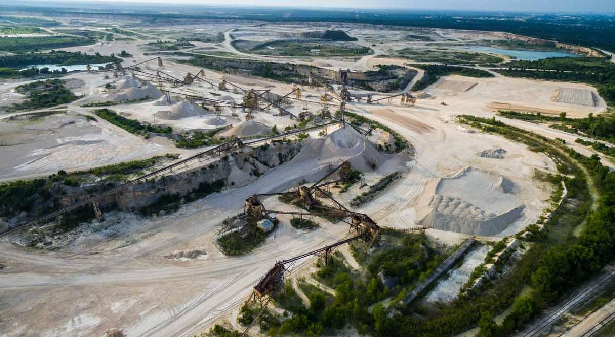 Texas Sand and Gravel Quarry