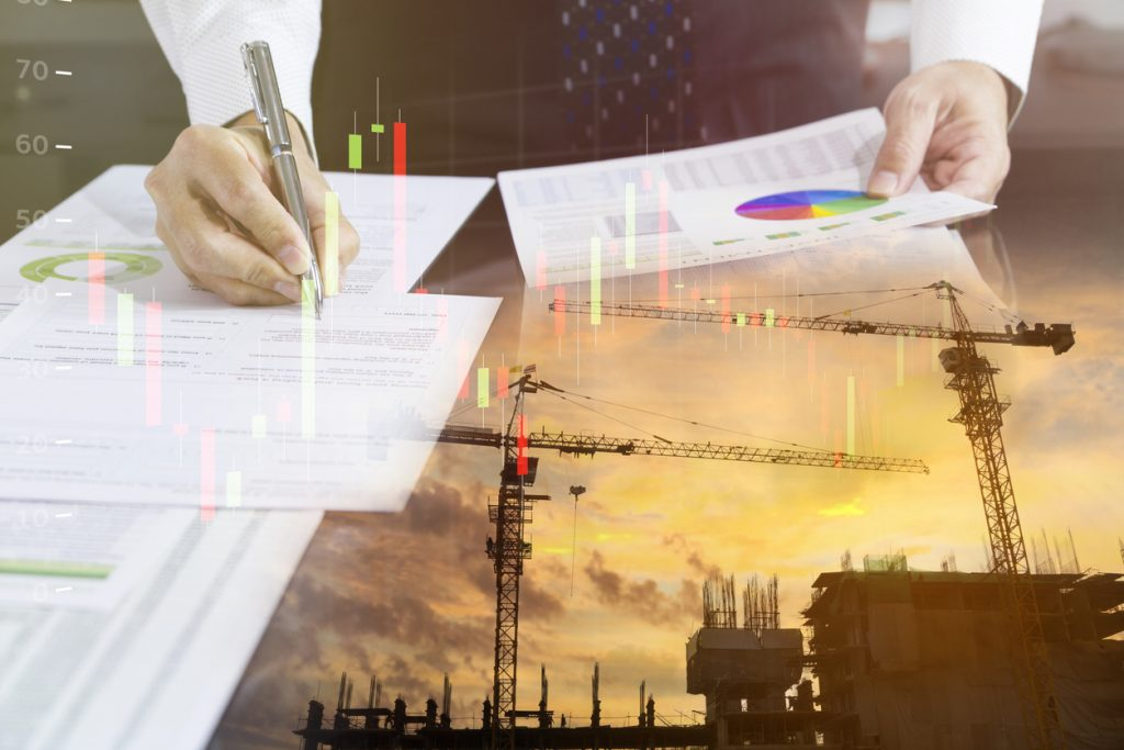 Construction manager reviewing 2021 forecast