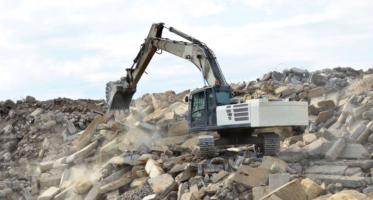concrete recycling from landfill